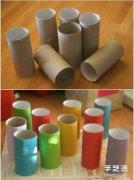 纸巾筒手工制作儿童玩具车 DIY简单方法教程