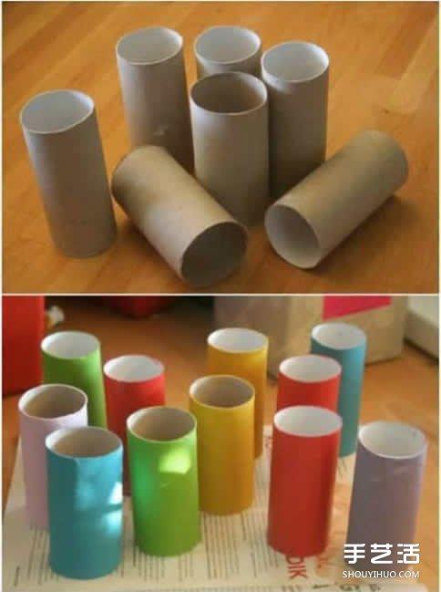 纸巾筒手工制作儿童玩具车的简单方法教程