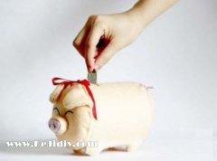小猪存钱罐 布艺手工制作diy教程