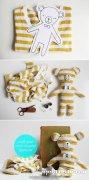 一起来做小熊布娃娃 布偶手工制作