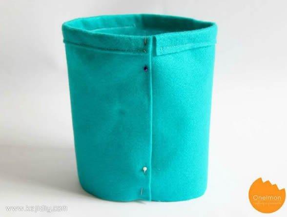 速成简单束口袋布袋布艺手工制作教程