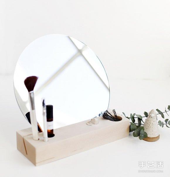简约风格小梳妆台DIY制作方法教程 超简单! -  www.shenghuoping.com