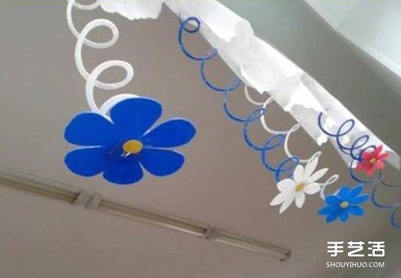幼儿手工教程:简单又好玩的剪纸弹簧花小制作 -  www.shouyihuo.com