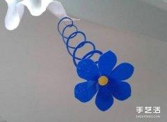 巧巧手幼儿手工网:简单好玩的儿童剪纸弹簧花