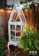 回收旧家具改造花盆花架DIY