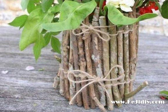简单田园风花瓶的做法图解 -  www.kejidiy.com