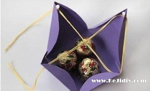 折纸糖果盒子的方法图解 -  www.kejidiy.com