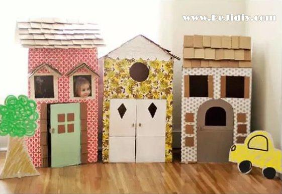 儿童玩具纸房子的手工制作方法 -  www.kejidiy.com
