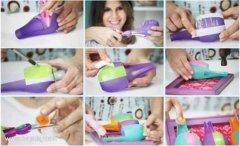 塑料瓶变废为宝手工制作笔筒