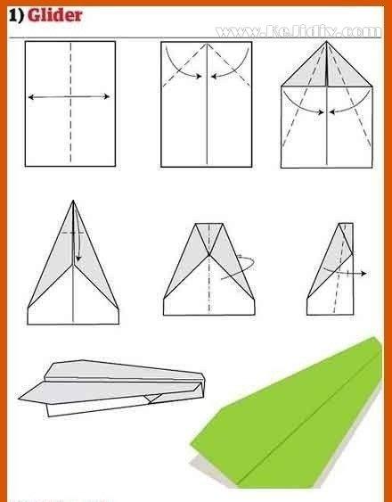 九种折纸飞机的方法图解 -  www.kejidiy.com