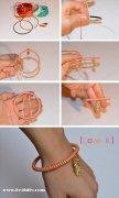 简单红绳手链编法图解