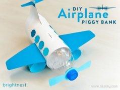 塑料瓶和卡纸自制玩具飞机图解