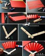 手工折扇纸扇子制作