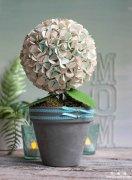 绣球花花语 DIY海绵纸绣球花