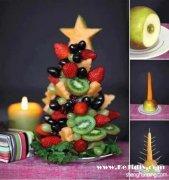 自制水果圣诞树