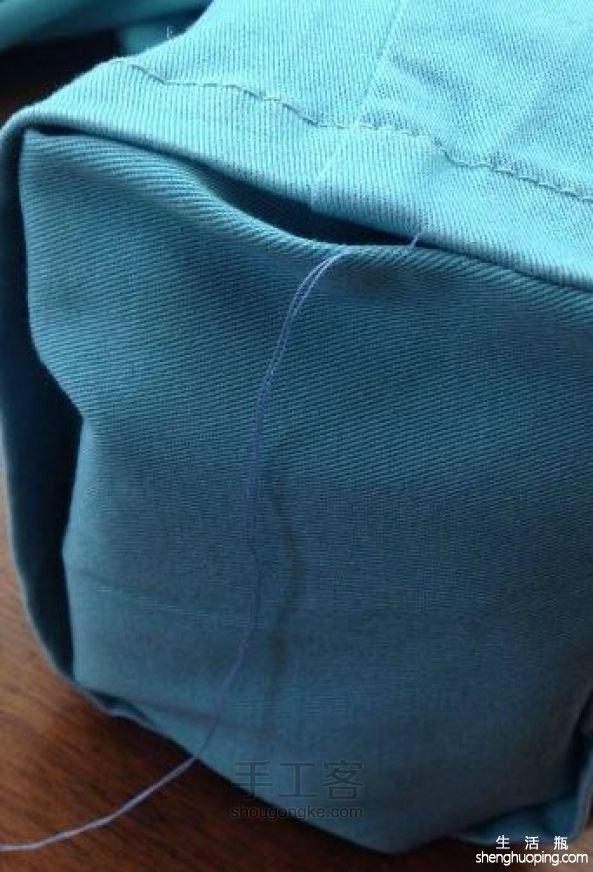 牛仔裤管改胸包 第14步