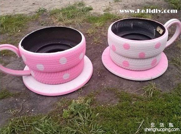 轮胎废旧利用手工小制作 -  www.kejidiy.com