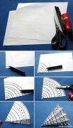幼儿园纸雨伞贴画手工制作教程DIY