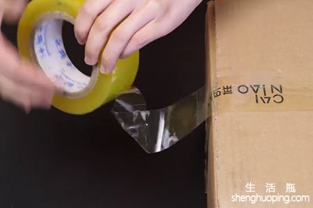 不用剪刀如何快速手撕透明胶带,徒手就能解决