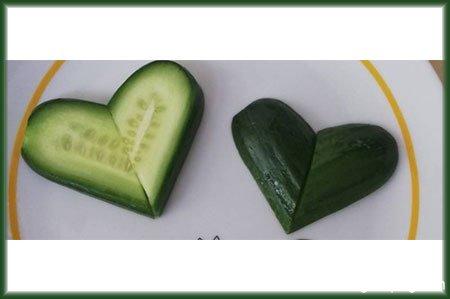 好看的心形黄瓜怎么切步骤图解